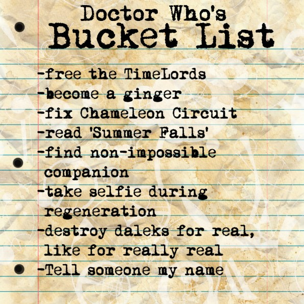 doctor who bucket list